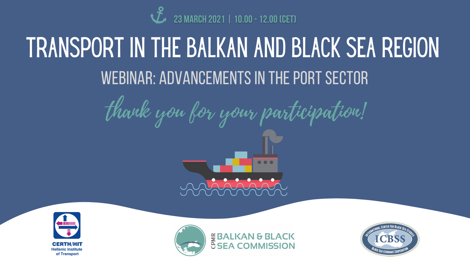Transport webinar on Ports_Thank you visual