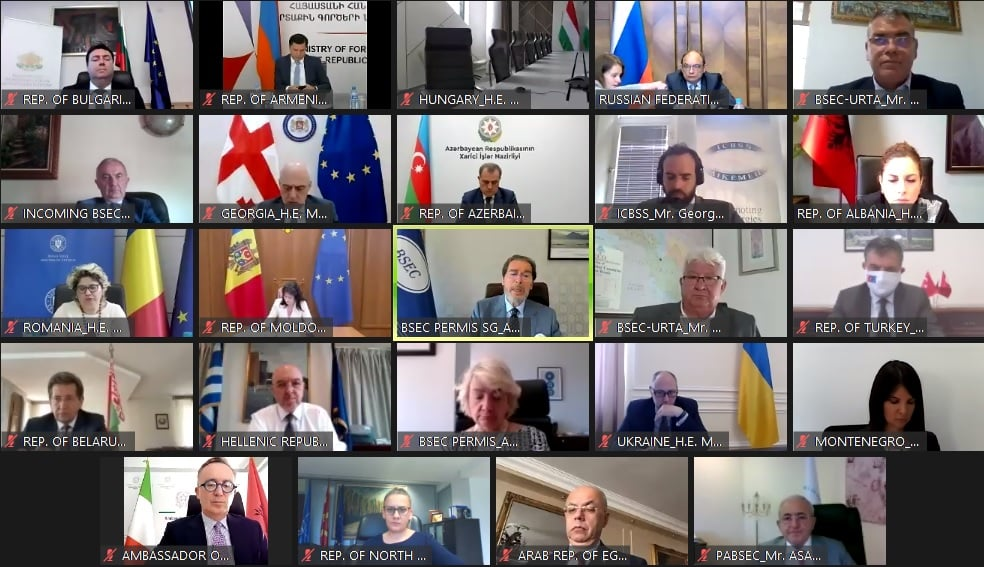 The 43rd Meeting of the Council of Ministers of Foreign Affairs of the BSEC Member states was held online on 30 June 2021.